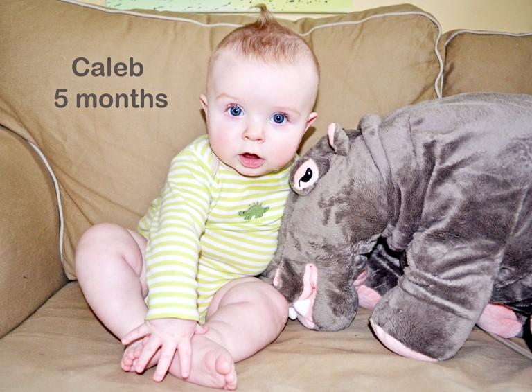 Caleb: 5 months