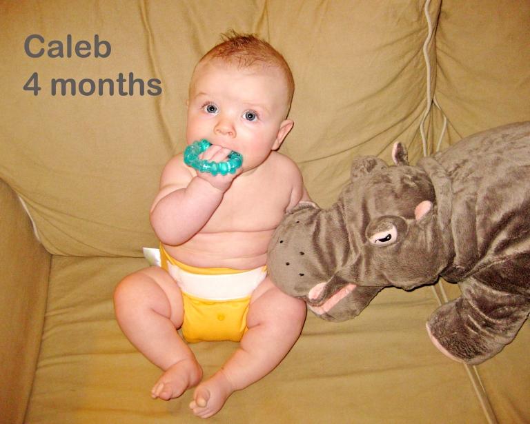 Caleb: four months