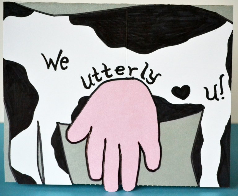 Handprint Cow Valentine Card