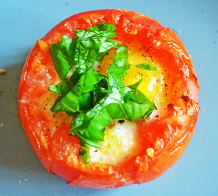 ... tomato- the less of a mess you have. I just barely slice the top off