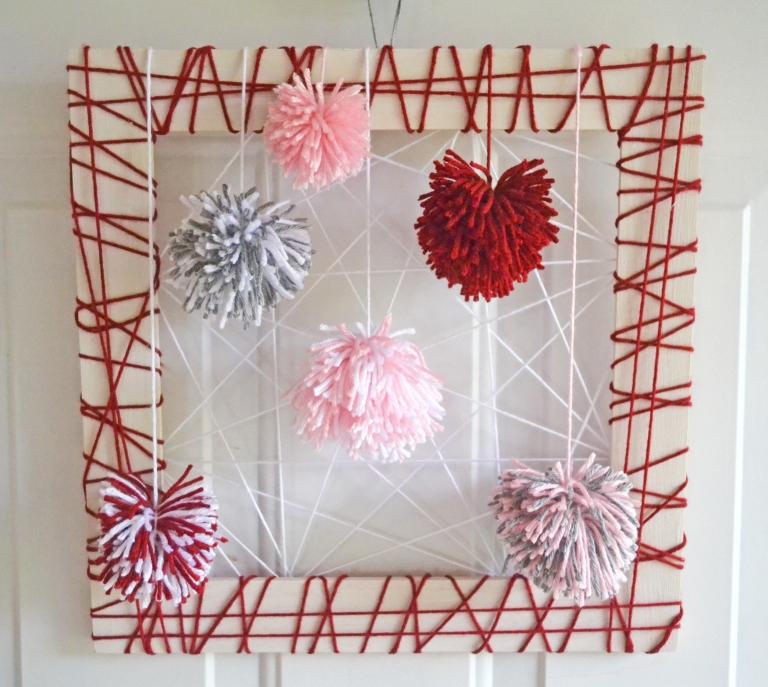 Square Valentine's Day Wreath