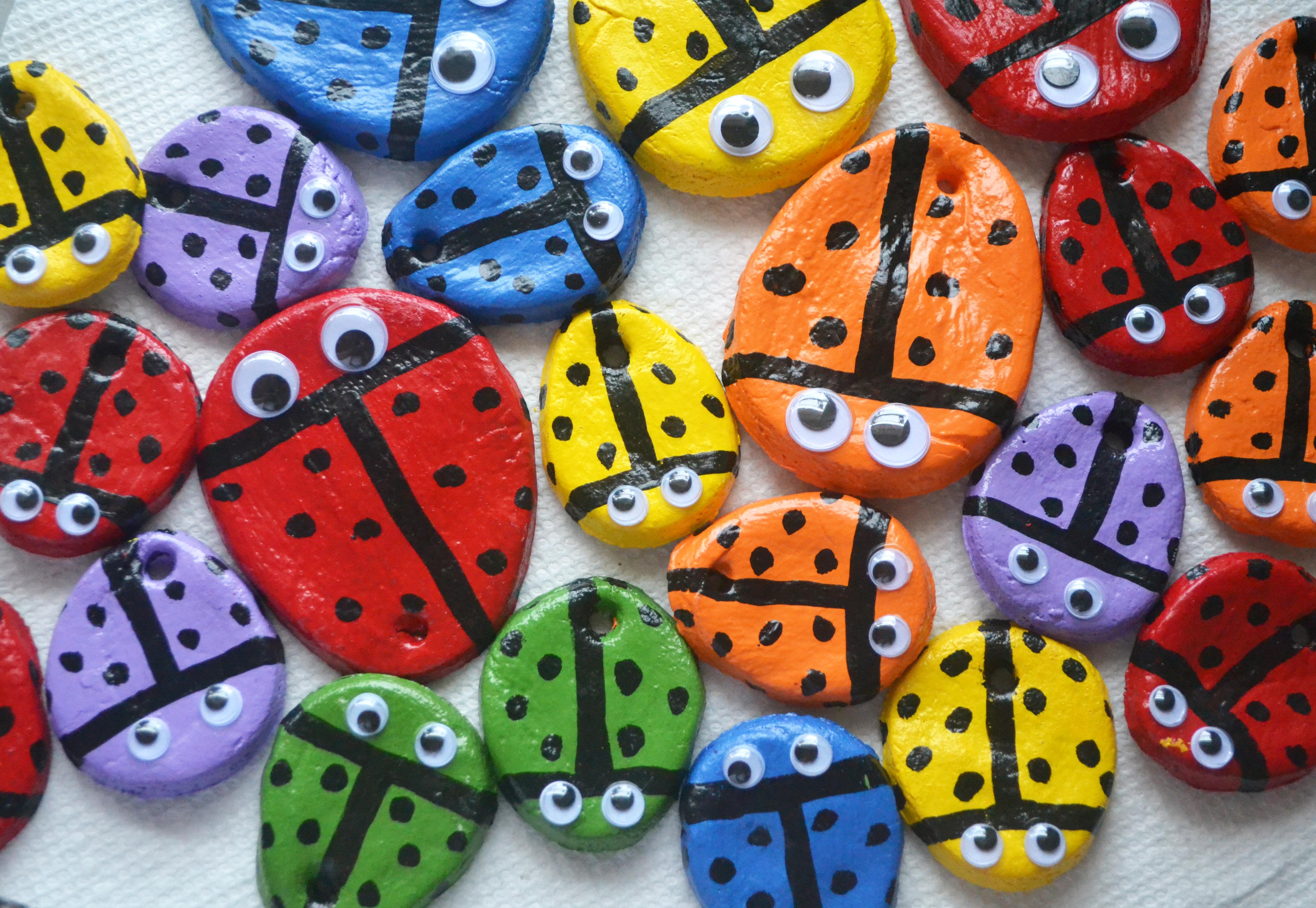 Ladybug ornaments - Salt Dough Ladybug Ornaments
